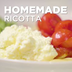 We know it's 🧀 CHEESY 🧀 but ricotta always tastes better when it's homemade. All you need are three ingredients, a little patience and there you. Easy Cream Cheese Recipes, Ricotta Cheese Recipes, White Sauce Recipes, Puff Pastry Recipes, Milk Recipes, Pasta Cheese, Cooking Recipes, Goat Cheese, Cooking Tips