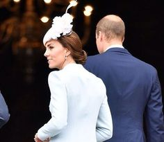 the Duke and Duchess of Cambridge @ The Queen's Thanksgiving Ceremony to celebrate her 90th Birthday!