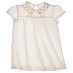D-Signed Girls' Short-Sleeve Peasant Top -  Off White