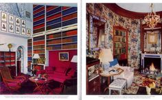 Madelaine #Castaing  USE OF WALLPAPER AT CEILING HEIGHT