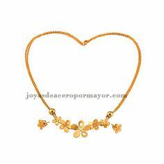 juego de mnoda de collar y pendiente en color oro dorado de acero quirurgico -SSNEG071646