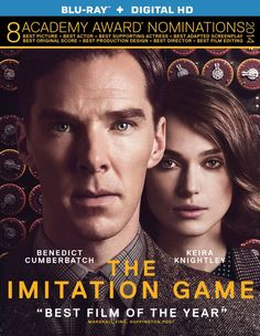 The Imitation Game Blu-ray Starring: Benedict Cumberbatch, Keira Knightley, English mathematician and logician, Alan Turing, helps crack the Enigma code Benedict Cumberbatch, Drama Movies, New Movies, Good Movies, Awesome Movies, Greatest Movies, 2018 Movies, Movies Online, Alan Turing