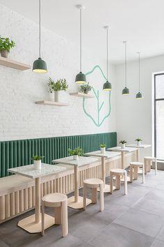 Cafe Shop Design, Coffee Shop Interior Design, Bar Interior, Bakery Design, Deco Pizzeria, Deco Restaurant, Small Restaurant Design, Restaurant Interior Design, Bar Deco