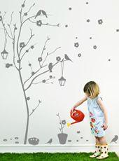 Jardinage d'intérieur sans risque de se salir... Les Contemplatives, Sticker enfants Mon arbre adoré - Autocollants muraux par Commoi