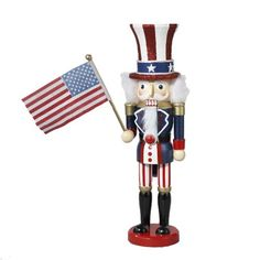 Kurt Adler 15Inch Wooden Uncle Sam Nutcracker * This is an Amazon Affiliate link. You can find out more details at the link of the image.
