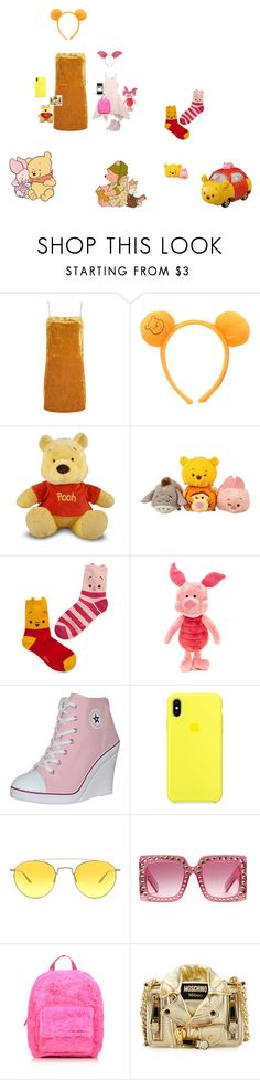 """winnie the pooh and sweet little piglet"" by princessunicornsparkles ❤ liked on Polyvore featuring Topshop, Bardot Junior, Disney, Barton Perreira, Gucci, George and Moschino"