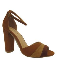 Loving this Chestnut & Tan Layer Rampage Sandal on #zulily! #zulilyfinds