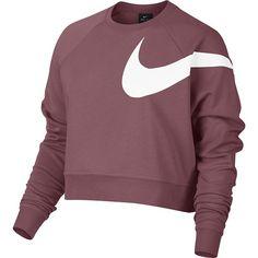 Nike Damen Sweatshirt Nike Dry Training Top, Größe L in Lila NikeNike - forrest. Womens Workout Outfits, Nike Outfits, Crop Top Sweater, Crop Shirt, Long Length Shirts, Long Sleeve Crop Top, Cropped Top, Training Tops, Crew Neck Shirt