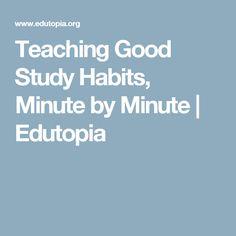 Teaching Good Study Habits, Minute by Minute | Edutopia