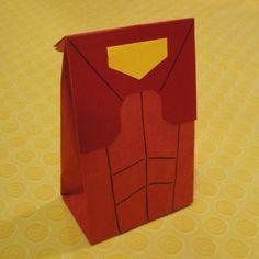 Iron Man Birthday Party Treat Sacks Comic Book Superhero Theme Goody Bags by jettabees on Etsy