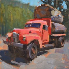 """Carol Marine's Painting a Day - """"Means Business"""""""