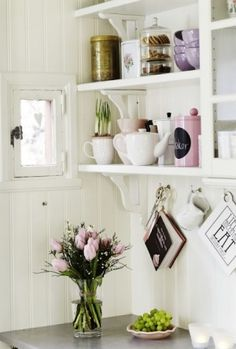 Open shelves by Nadene