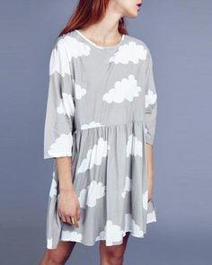 cloud babydoll dress| $13.92  grunge pastel pastel grunge hipster harajuku fachin dress under20 under30 sammydress wish i love this!