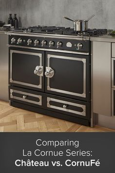 The La Cornue Château and CornuFé Series of ranges are the embodiment of French culinary tradition. Exhibiting timeless style and summoning an expression of truly refined taste, these stylish and powerful ranges represent a celebration of all that is glorious about France. A wide swath of colors and trims frame ergonomic, Euro-style rangetop knobs and beautiful classic oven door handles for a complete aesthetic steeped in tradition. The Science Of Cooking, The Whole Nine Yards, La Cornue, Gas Oven, Electric Oven, Summoning, Ranges, Dream Homes, Luxury Homes