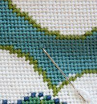 How to create even needlepoint stitch tension.