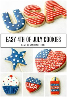 It's time to celebrate the red, white and blue with these all-American 4th of July Cookies!  I'll show you how to take your favorite sugar cookie recipe and decorate them to perfection for your Independence Day party. #4thofjulycookies #4thofjulycookiedecoratingideas #4thofjulycookiesroyalicing #4thofjulysugarcookies #howtomakefourthofjulycookies
