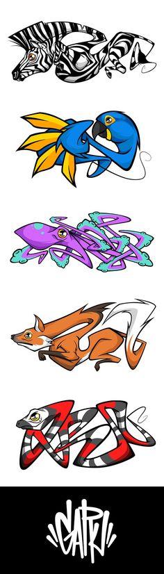 graffiti art Digital , Blue Macaw, Octopus, Guar Wolf and Coral Snake. Graffiti Tattoo, Graffiti Artwork, Graffiti Lettering, Street Art Graffiti, Arte Dope, Wal Art, Graffiti Characters, Best Street Art, Art Graphique