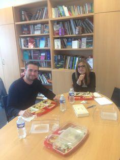 #maviededirecteur plateau-repas mensuel avec le Pdt du BDE @flavbad et Béatrice Nerson faire le point sur la rentrée et les assoces