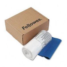 Fellowes Powershred Shredder Bags, 10 Gallon Capacity, Clear, 100 Bags & Ties/CTN