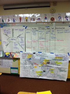 GLAD Water Cycle charts for English Language Development with Dual-Language First Graders