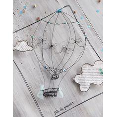 hot air baloon wire art