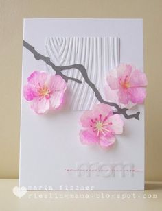 DIY Mothers Day Cards - Watercolored Cherry Blossoms Card - Creative and Thoughtful Homemade Card Ideas for Mom - Step by Step Tutorials, Best Quotes, Handmade Projects http://diyjoy.com/diy-mothers-day-cards