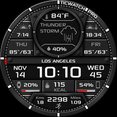 High Quality Watch Face, special edition for Ticwatch Pro! Full of info and a realistic design. Elegant Watches, Stylish Watches, Luxury Watches For Men, Beautiful Watches, Cool Watches, Men's Watches, Android Watch Faces, Digital Watch Face, Brand Name Watches