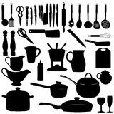 Kitchen Utensils Silhouette Vector Royalty Free Stock Photo - Image: 15003385
