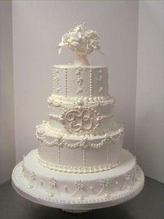 Amazing Wedding Cakes | Dolce nuziale bianco decorato