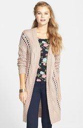 NEW MARKDOWN BP. Cable Knit Cardigan (Juniors) Was: $68.00 Now: $40.8040% OFF