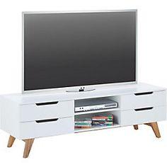 Tv möbel wandsysteme  Retro Sideboard in Weiß modern Jetzt bestellen unter: https ...