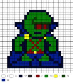 Martian Manhunter update DC Perler Bead Pattern