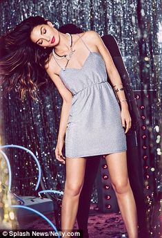 Shining silver: This cute silver dress is perfect for a Christmas party...