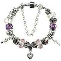 Fashion gifts Black murano glass bead charm beads Fit European Pandora Style Jewelry Bracelets & Bangles