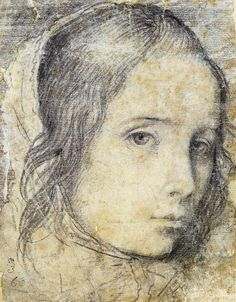 Diego Velázquez — Head of a Girl, 1618, Diego Velázquez Medium:... Life Drawing, Painting & Drawing, Manga Drawing, Drawing Tips, Diego Velazquez, Baroque Art, Chalk Drawings, Easy Drawings, Pencil Drawings