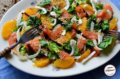 Salata de fenicul, somon afumat si portocale Pasta Salad, Cobb Salad, Avocado, Ethnic Recipes, Salads, Crab Pasta Salad, Lawyer