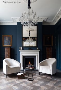 how to decorate with blue | navy living rooms, large scale art and