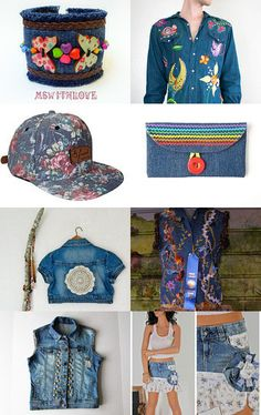 Denim passion.. by Veronica Mormone on Etsy--Pinned with TreasuryPin.com