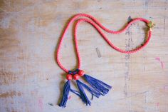 Diy Tassel  : DIY: bead & tassel necklace
