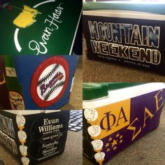 PAINTED FRATERNITY COOLER//Masters/SAE/Braves/Evan Williams