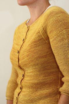 Audrey pattern by Jane Richmond-- garter stitch cardigan----uuummmm, it looks like reverse stocknet stitch.