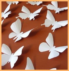 Hey, I found this really awesome Etsy listing at https://www.etsy.com/listing/124239789/3d-wall-butterflies-20-white-butterfly