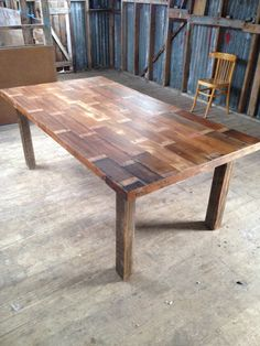 Stunning simple dining table