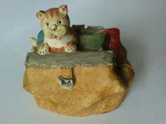 Peter Fagan Colour Box Cats 'Gladstone Bag' ref Gladstone Bag, Color Box, Colour, Cute Cats, Decorative Boxes, Pottery, Christmas Ornaments, Holiday Decor, Scotland