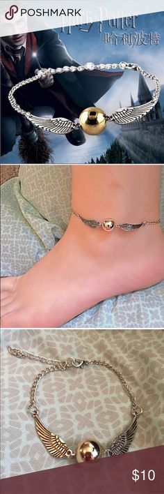(B1) Golden Snitch Anklet See pic Jewelry