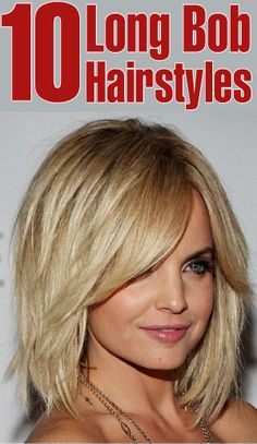 10 Long Bob Hairstyles To Inspire You. Wish I was brave enough to try bangs!