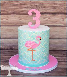 Flamingo Cake www.facebook.com/i.love.cuteology.cakes