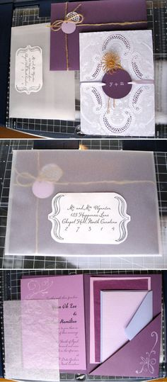 Cool wedding invitation DIY