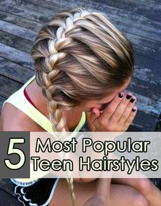 sideswept hairstyle for teens
