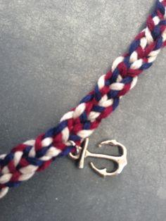 Marine tressée #Bracelet #DIY